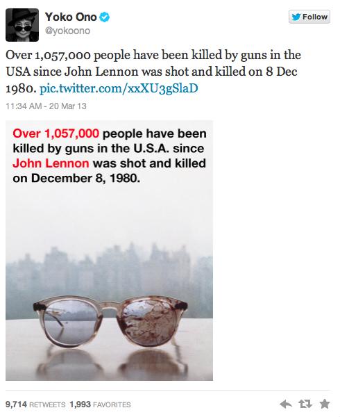 Yoko Ono Tweeted A Picture Of John Lennons Bloody Glasses In Plea